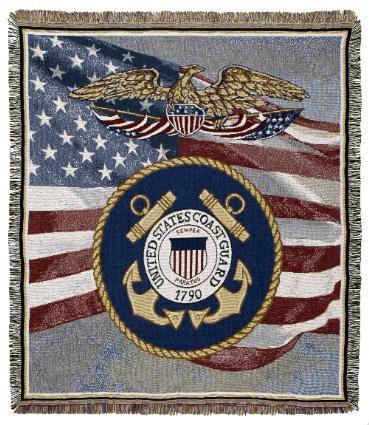 US Coast Guard Throw Blankets