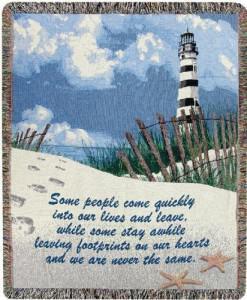 Lighthouse Throw Blankets