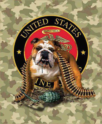 US Marines Throw Blankets