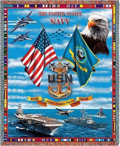 Us Navy Throw Blankets