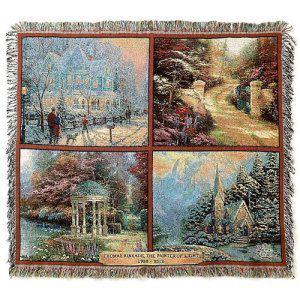 Thomas Kinkade Throw Blankets