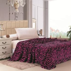 Pink Zebra Throw Blankets - The Blanket Store