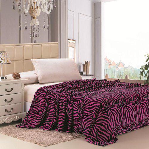 Pink Zebra Throw Blankets - The Blanket Store