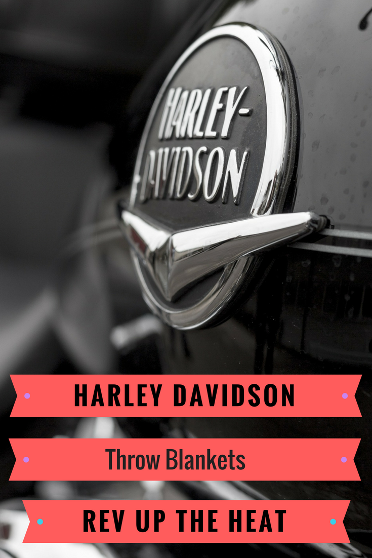 Harley Davidson Throw Blankets